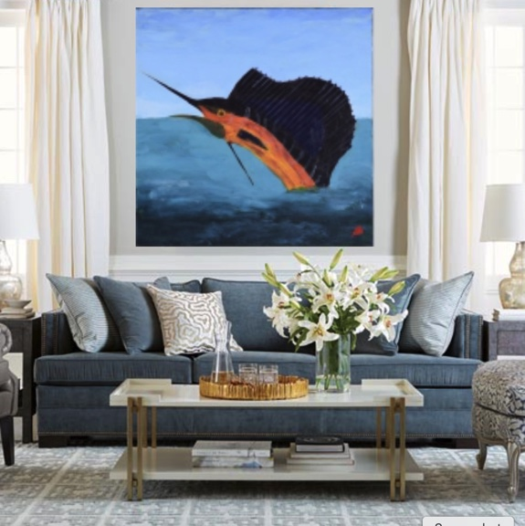 expressionist art defines the room Donald Ryker