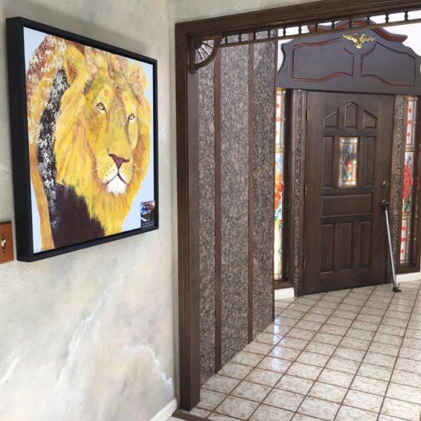 Prowling Lion Print