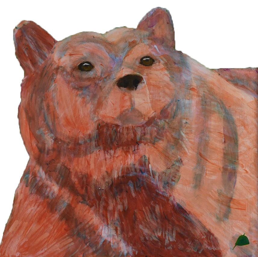 Expressionist Painter Donald Ryker Alaskan Bear